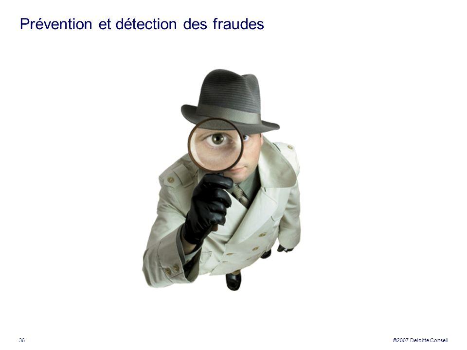 Prévention et détection des fraudes