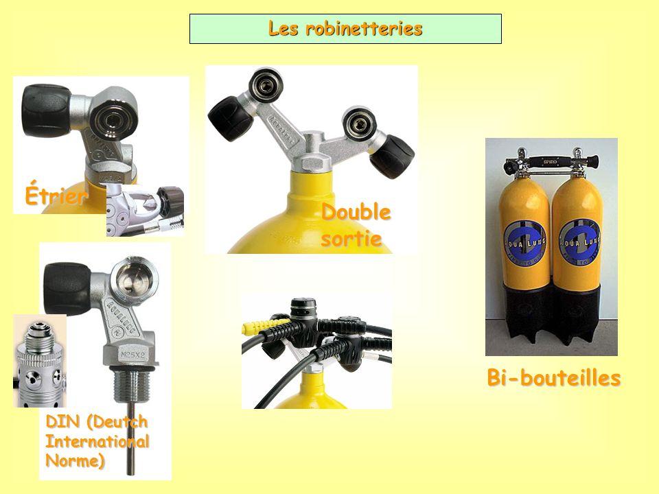 Étrier Double sortie Bi-bouteilles Les robinetteries