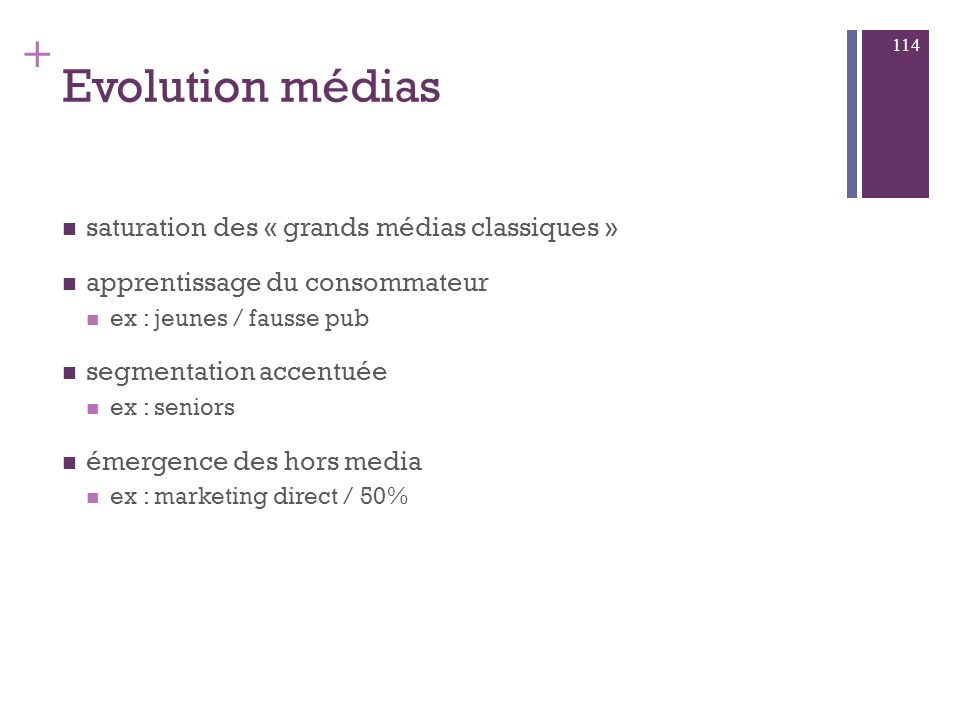 Evolution médias saturation des « grands médias classiques »