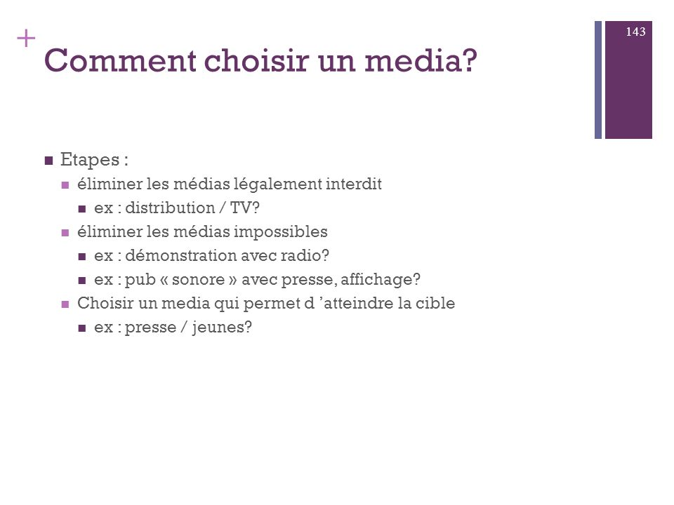 Comment choisir un media