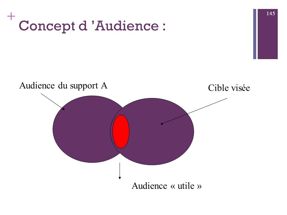 Concept d 'Audience : Audience du support A Cible visée
