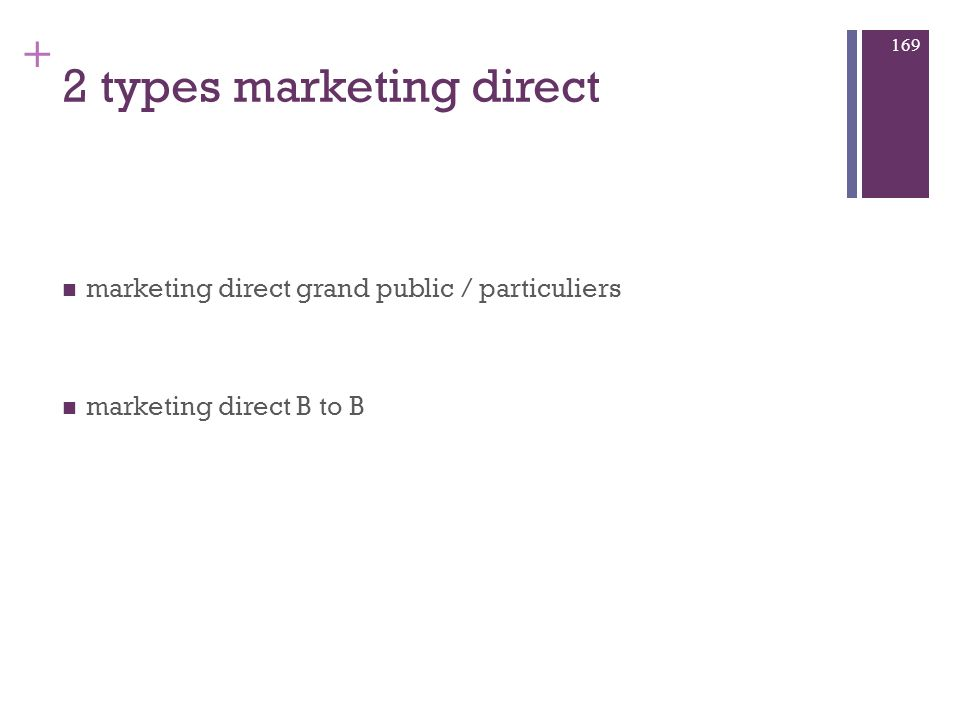 2 types marketing direct