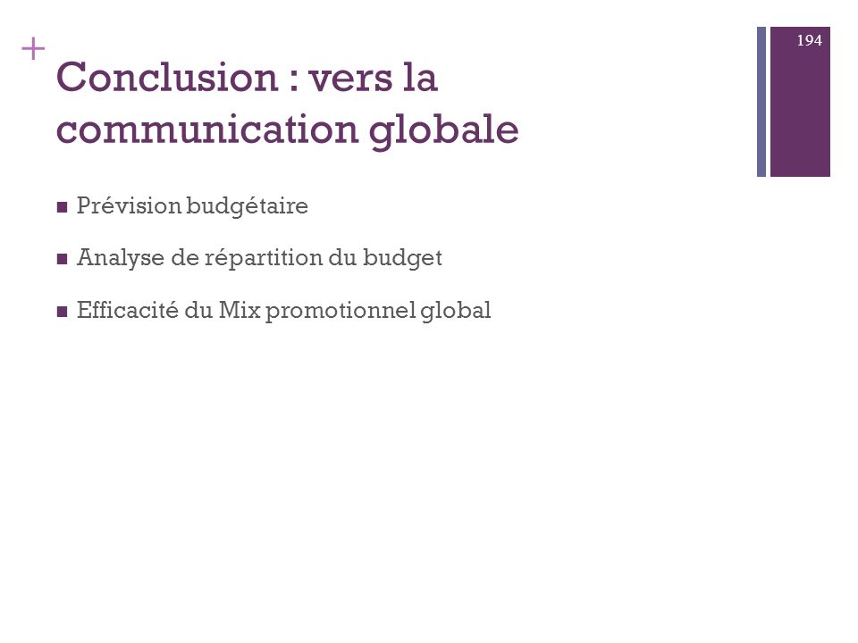 Conclusion : vers la communication globale