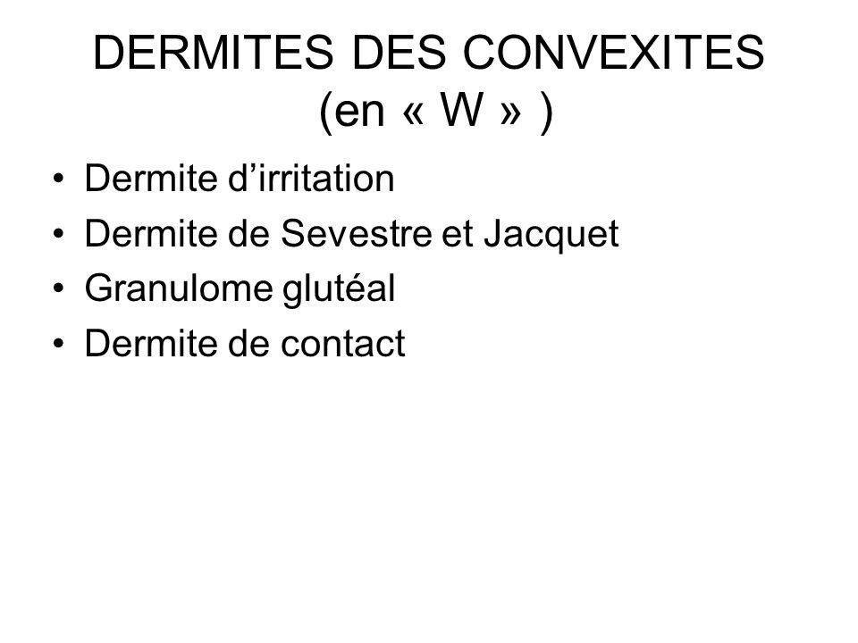 DERMITES DES CONVEXITES (en « W » )