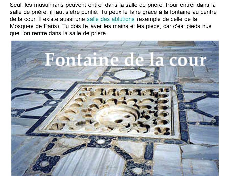 Seul, les musulmans peuvent entrer dans la salle de prière