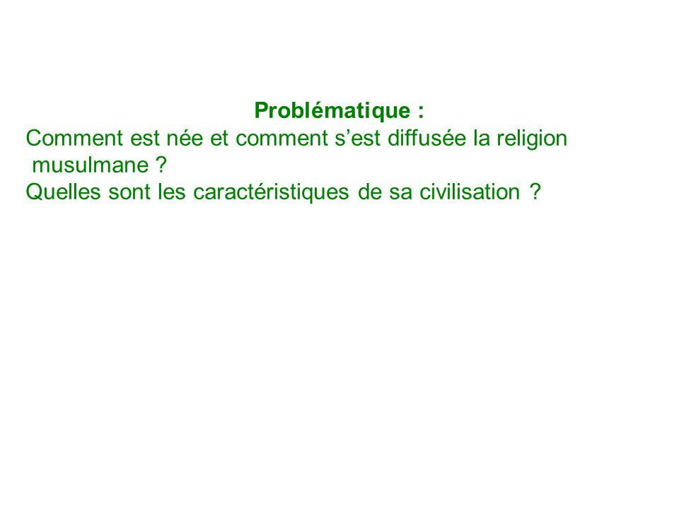 Problématique : Comment est née et comment s'est diffusée la religion.
