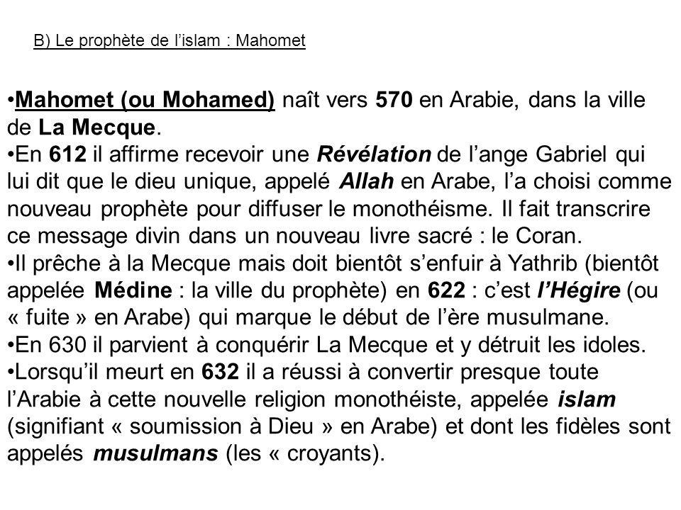 En 630 il parvient à conquérir La Mecque et y détruit les idoles.