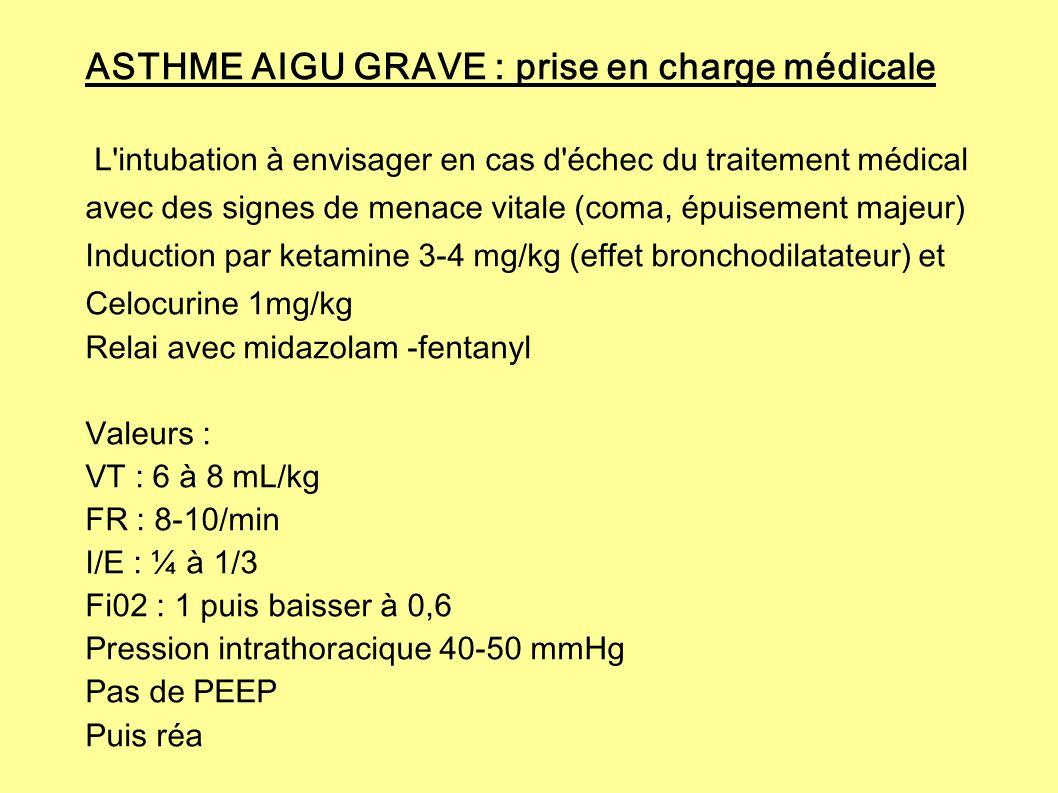 ASTHME AIGU GRAVE : prise en charge médicale