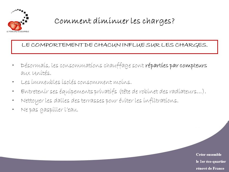 Comment diminuer les charges