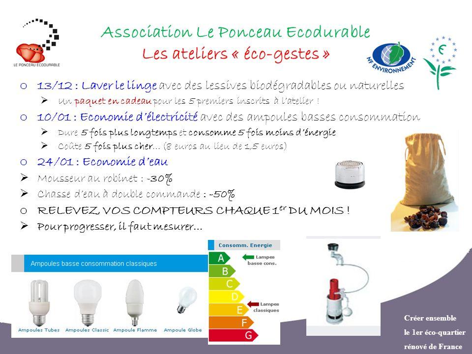 Association Le Ponceau Ecodurable Les ateliers « éco-gestes »