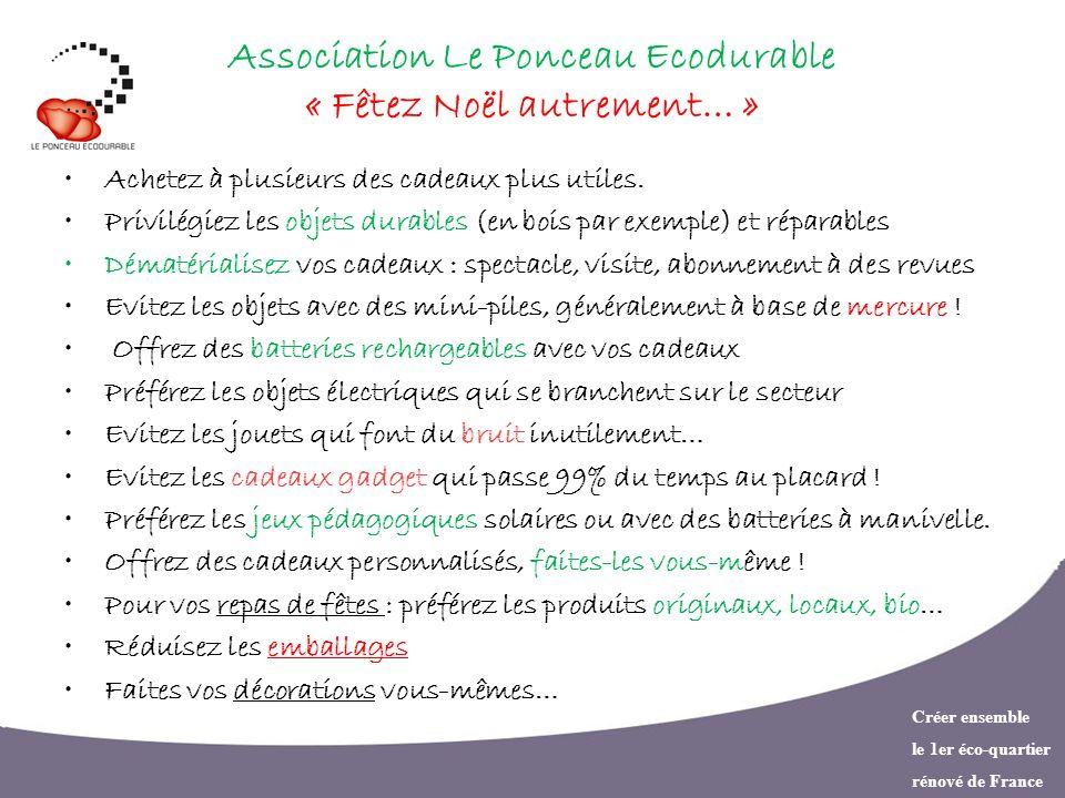 Association Le Ponceau Ecodurable « Fêtez Noël autrement… »