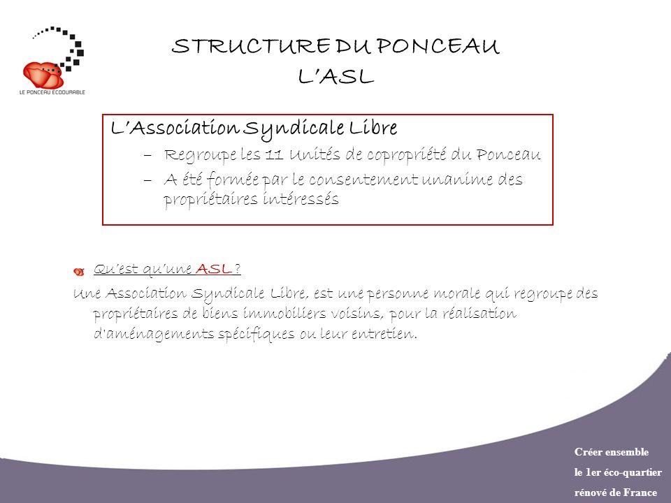 STRUCTURE DU PONCEAU L'ASL