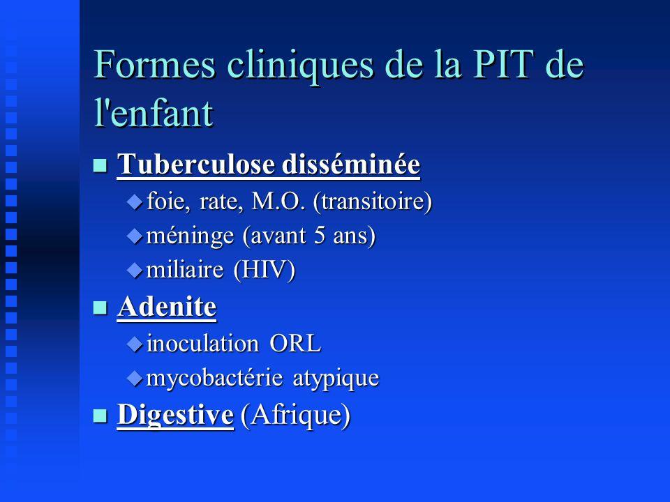 Formes cliniques de la PIT de l enfant