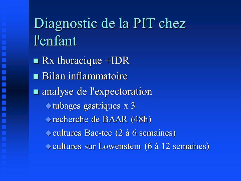 Diagnostic de la PIT chez l enfant