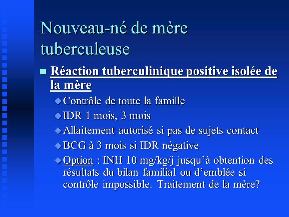 Nouveau-né de mère tuberculeuse