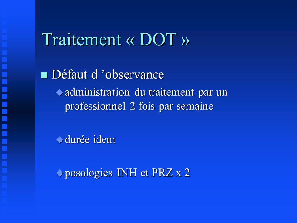Traitement « DOT » Défaut d 'observance