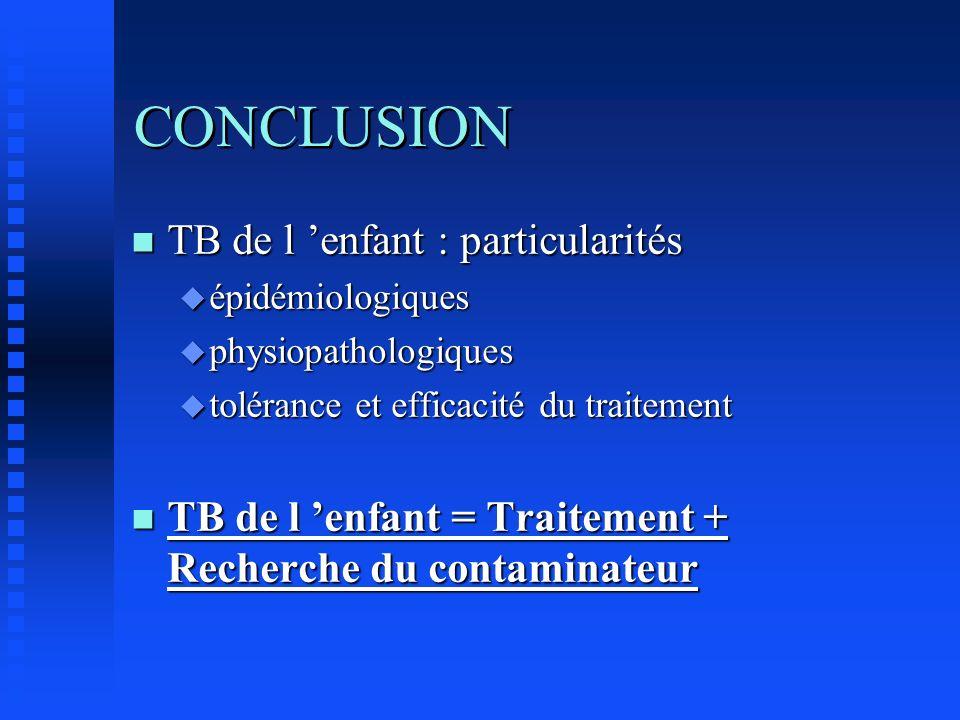 CONCLUSION TB de l 'enfant : particularités