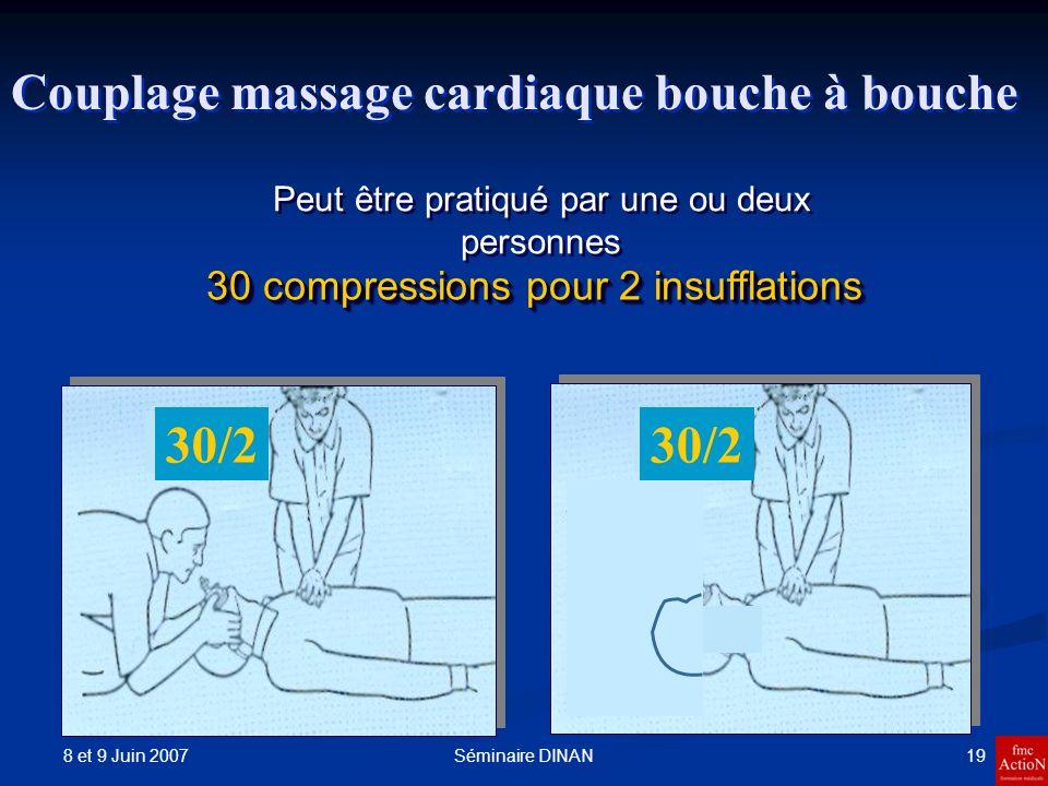 30/2 Couplage massage cardiaque bouche à bouche