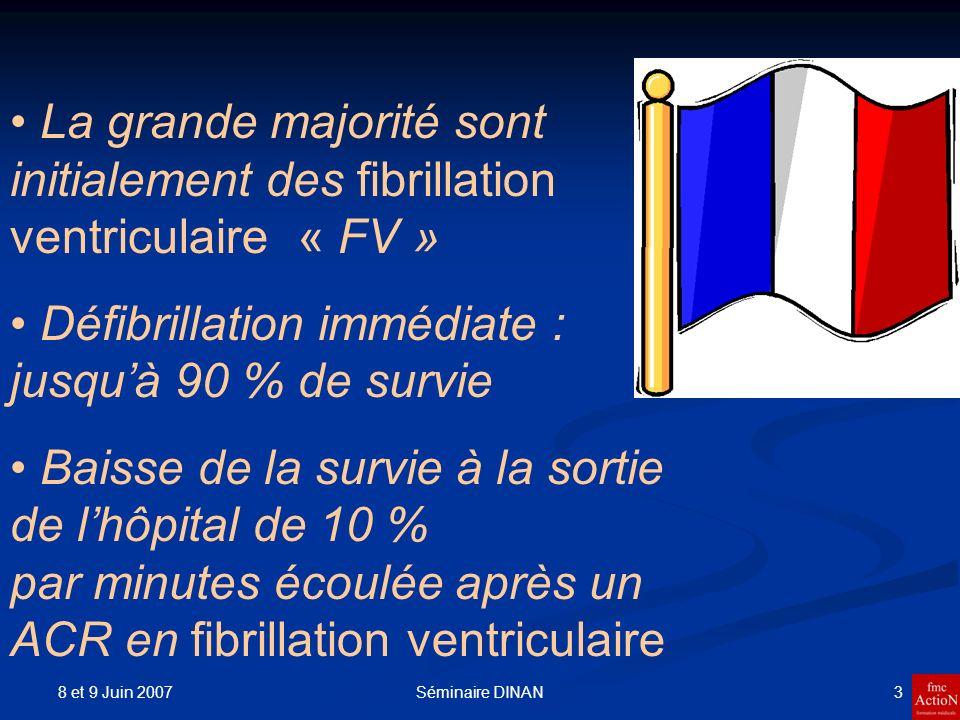 Défibrillation immédiate : jusqu'à 90 % de survie