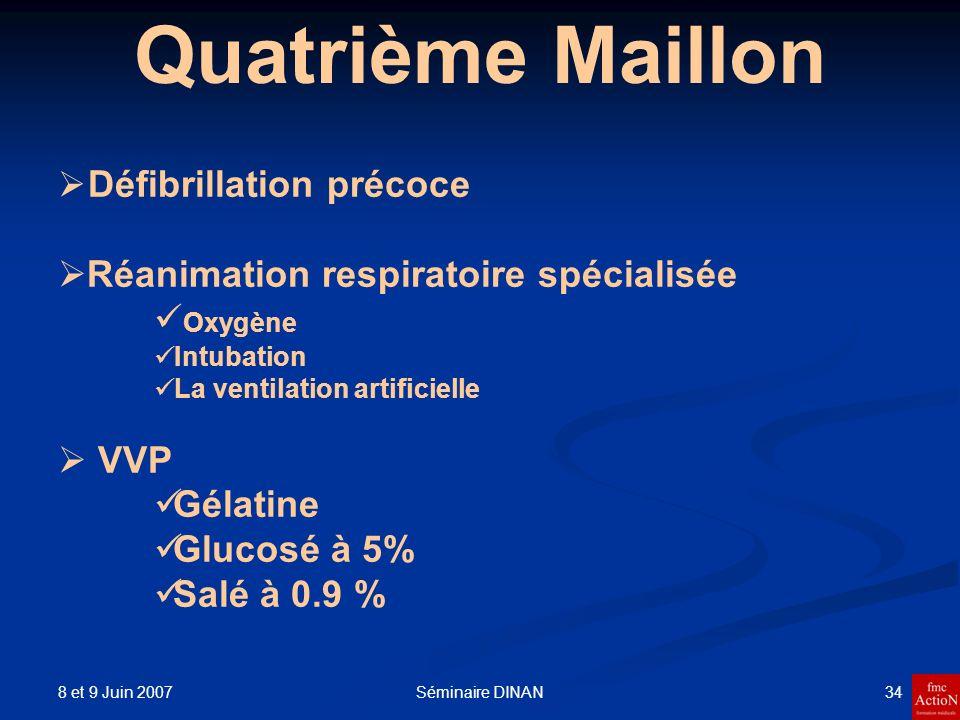 Quatrième Maillon Réanimation respiratoire spécialisée Oxygène VVP