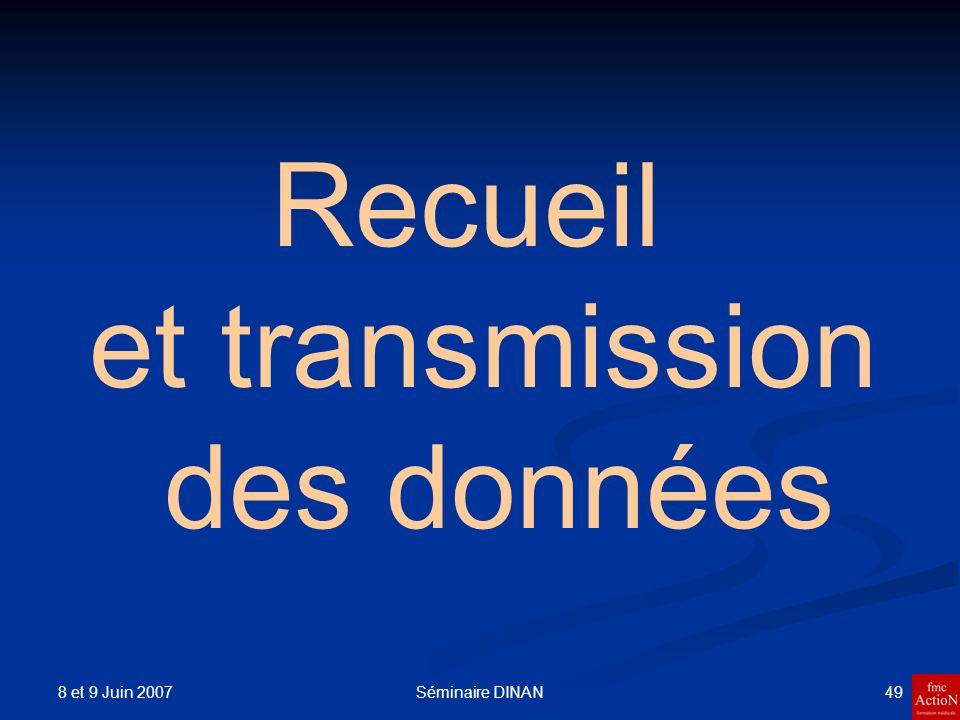 Recueil et transmission