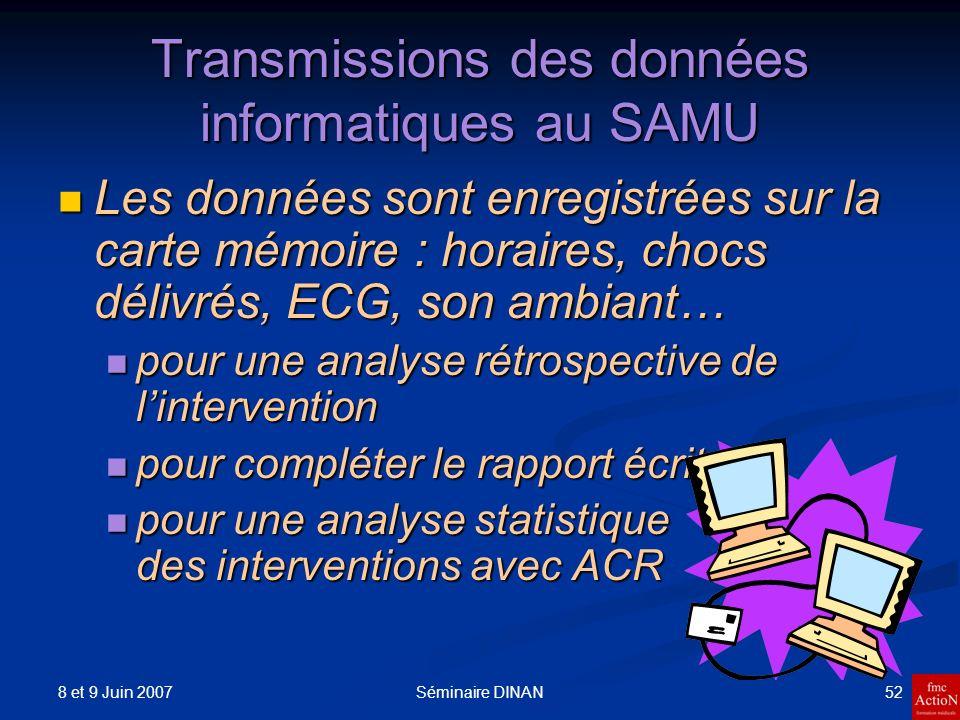 Transmissions des données informatiques au SAMU