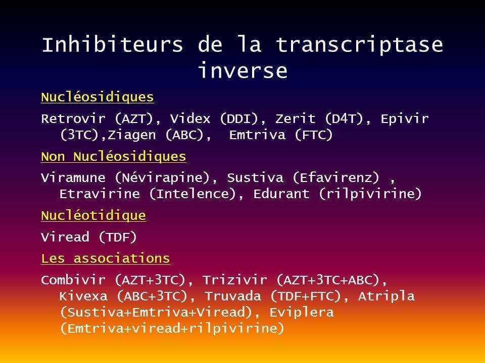 Inhibiteurs de la transcriptase inverse
