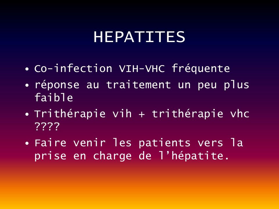 HEPATITES Co-infection VIH-VHC fréquente