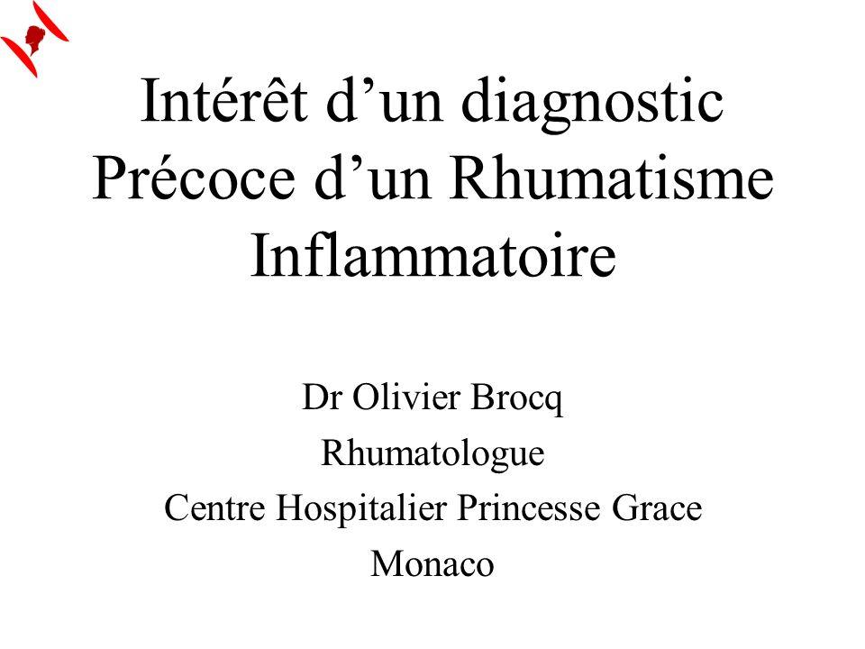 Intérêt d'un diagnostic Précoce d'un Rhumatisme Inflammatoire