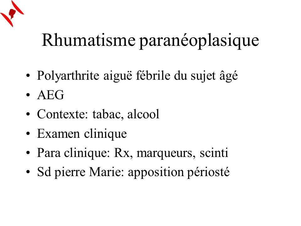 Rhumatisme paranéoplasique