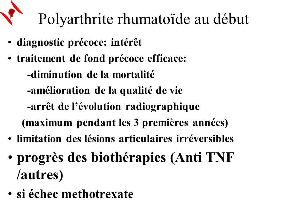 Polyarthrite rhumatoïde au début