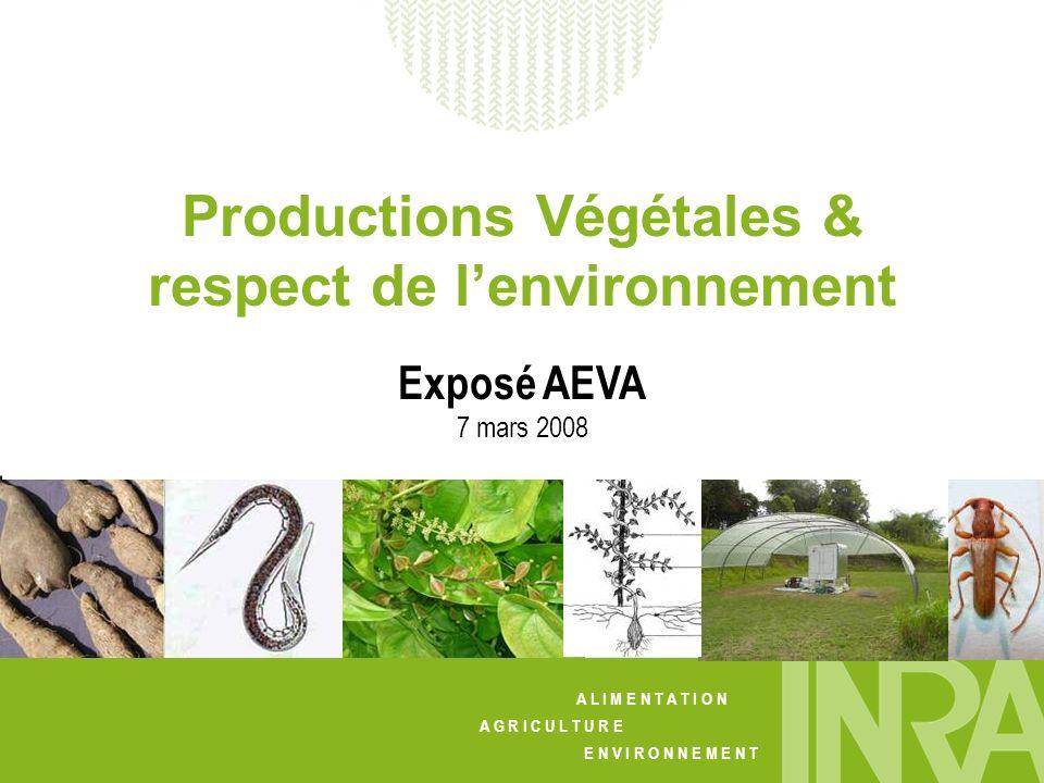Productions Végétales & respect de l'environnement
