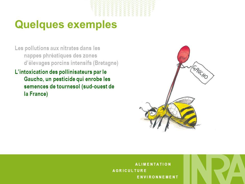 Quelques exemples Les pollutions aux nitrates dans les nappes phréatiques des zones d'élevages porcins intensifs (Bretagne)