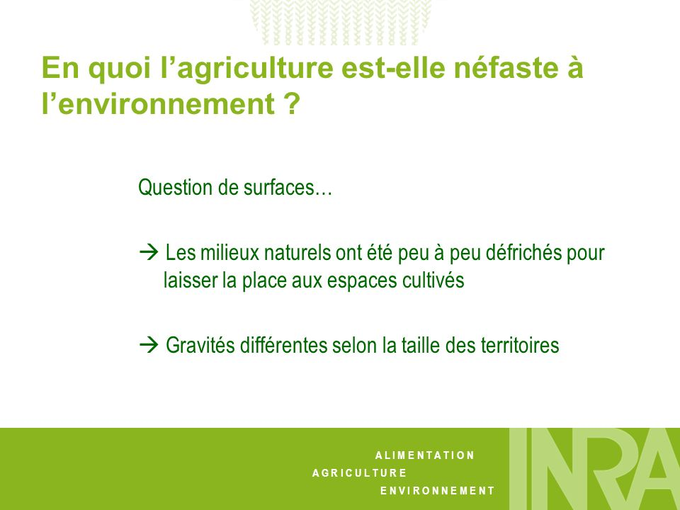 En quoi l'agriculture est-elle néfaste à l'environnement