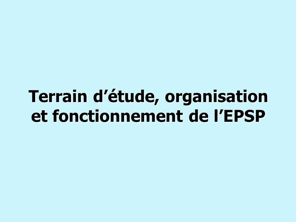 Terrain d'étude, organisation et fonctionnement de l'EPSP