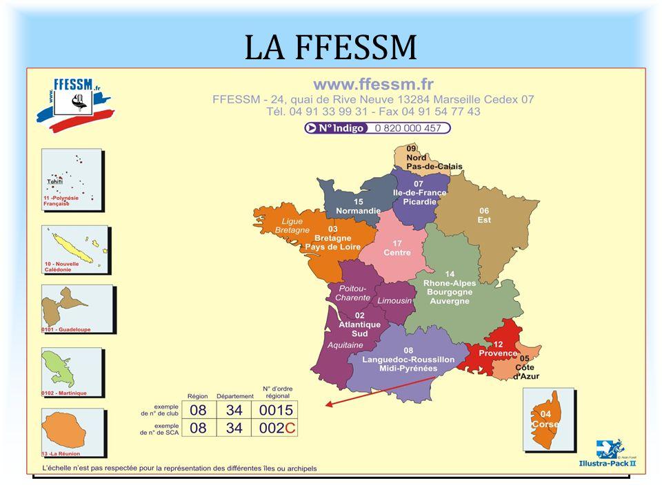 LA FFESSM Fédération Française d'Etude et de Sports Sous-marins