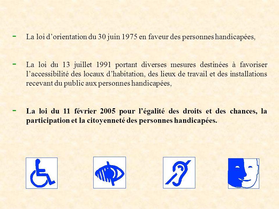La loi d'orientation du 30 juin 1975 en faveur des personnes handicapées,