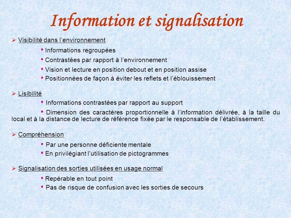 Information et signalisation