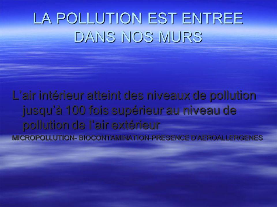 LA POLLUTION EST ENTREE DANS NOS MURS