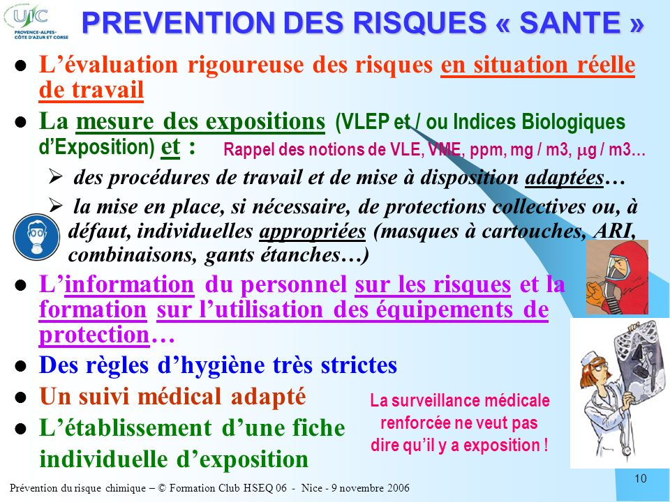 PREVENTION DES RISQUES « SANTE »