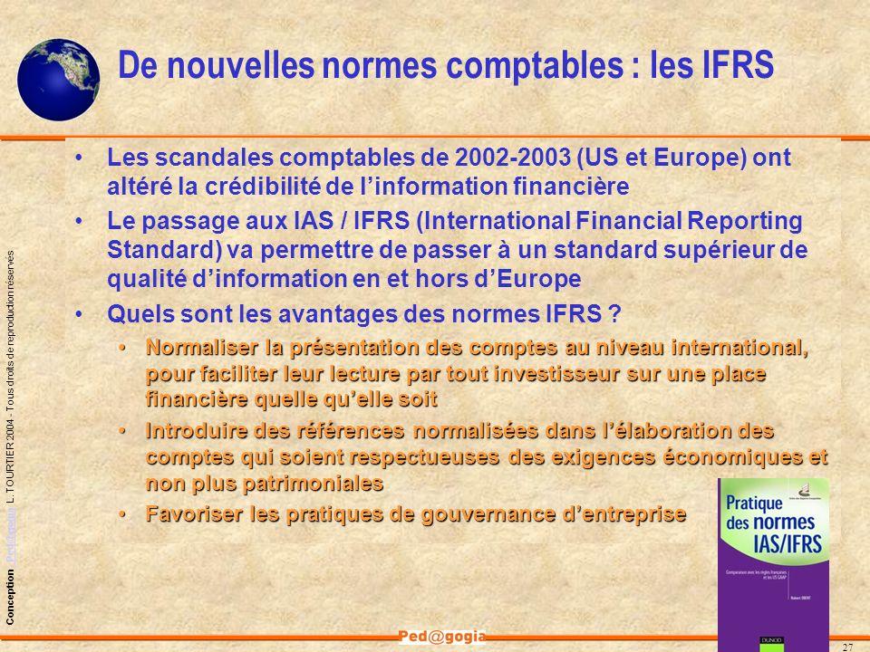De nouvelles normes comptables : les IFRS