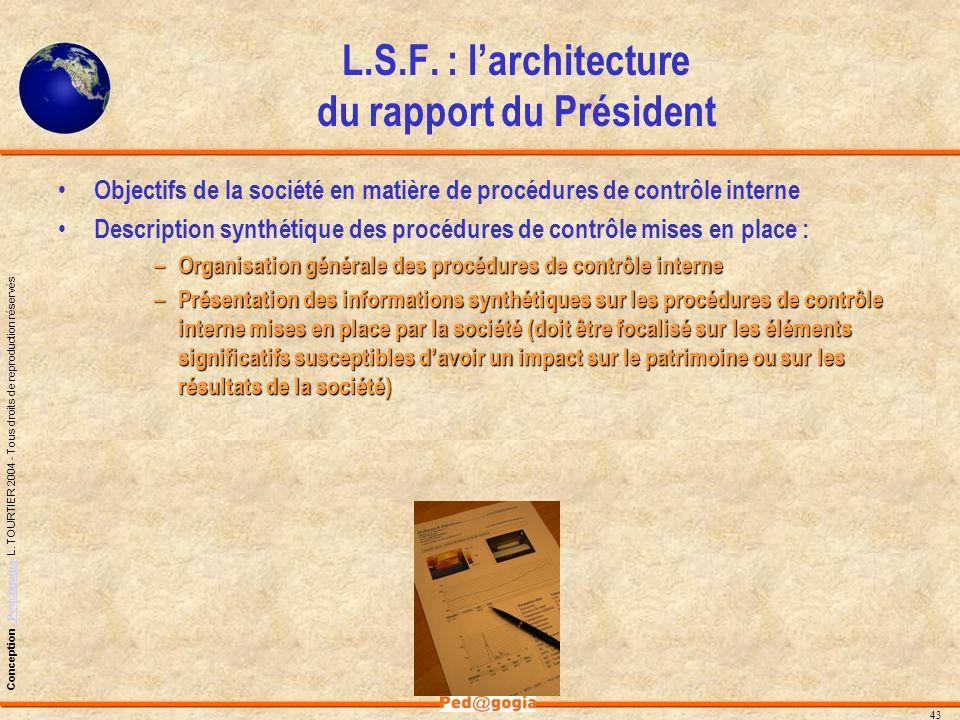 L.S.F. : l'architecture du rapport du Président