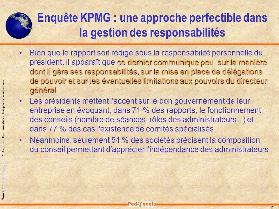 Enquête KPMG : une approche perfectible dans la gestion des responsabilités