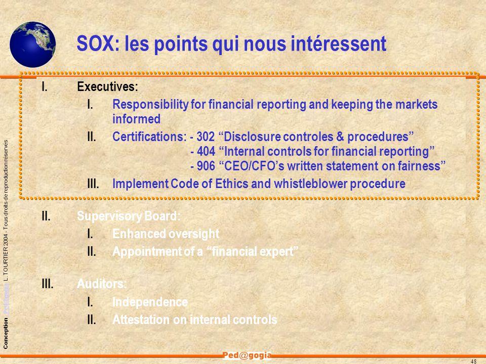 SOX: les points qui nous intéressent