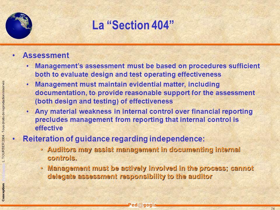 La Section 404 Assessment