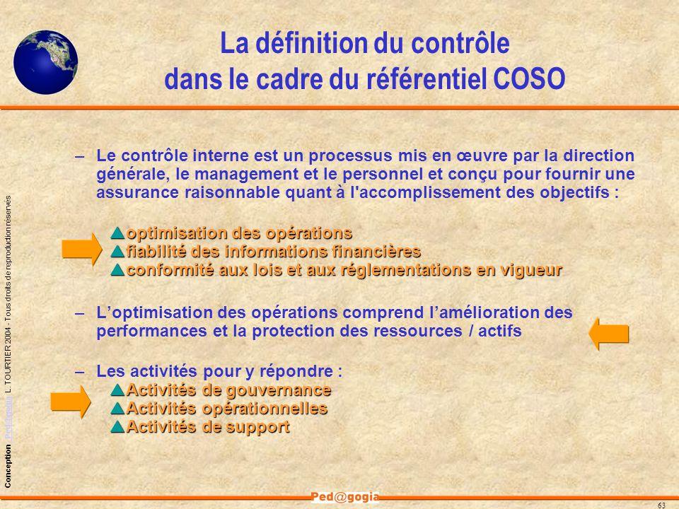 La définition du contrôle dans le cadre du référentiel COSO