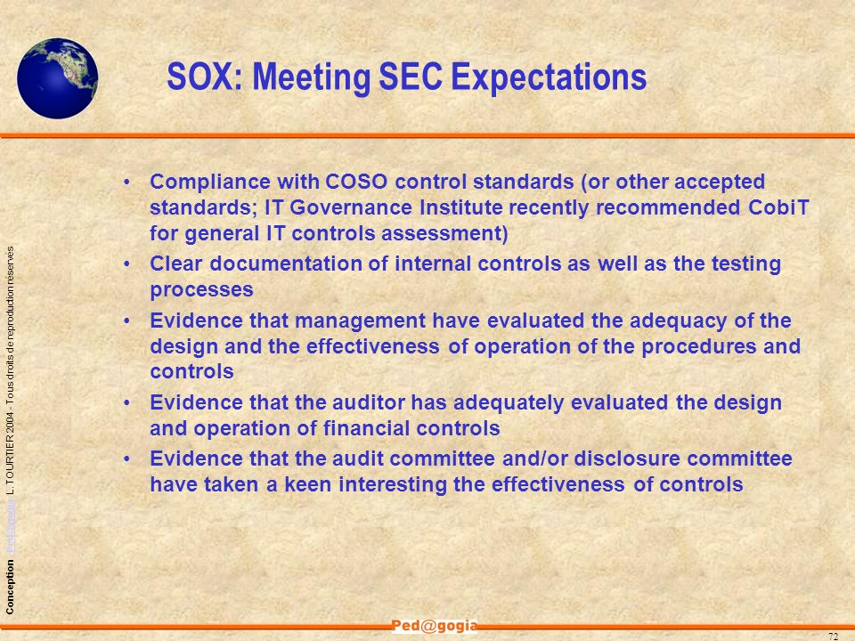 SOX: Meeting SEC Expectations