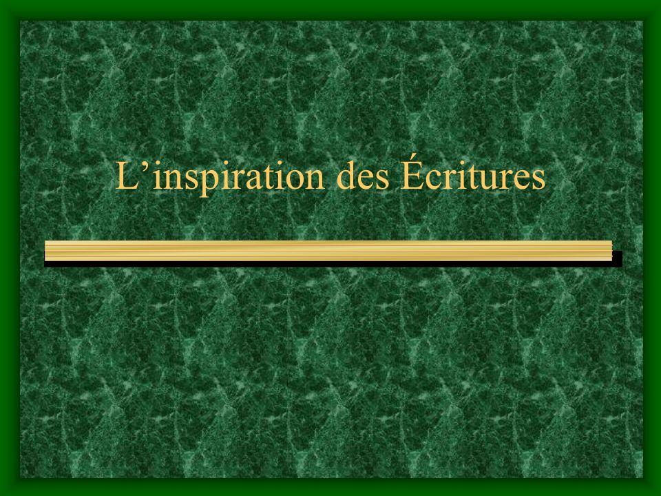 L'inspiration des Écritures