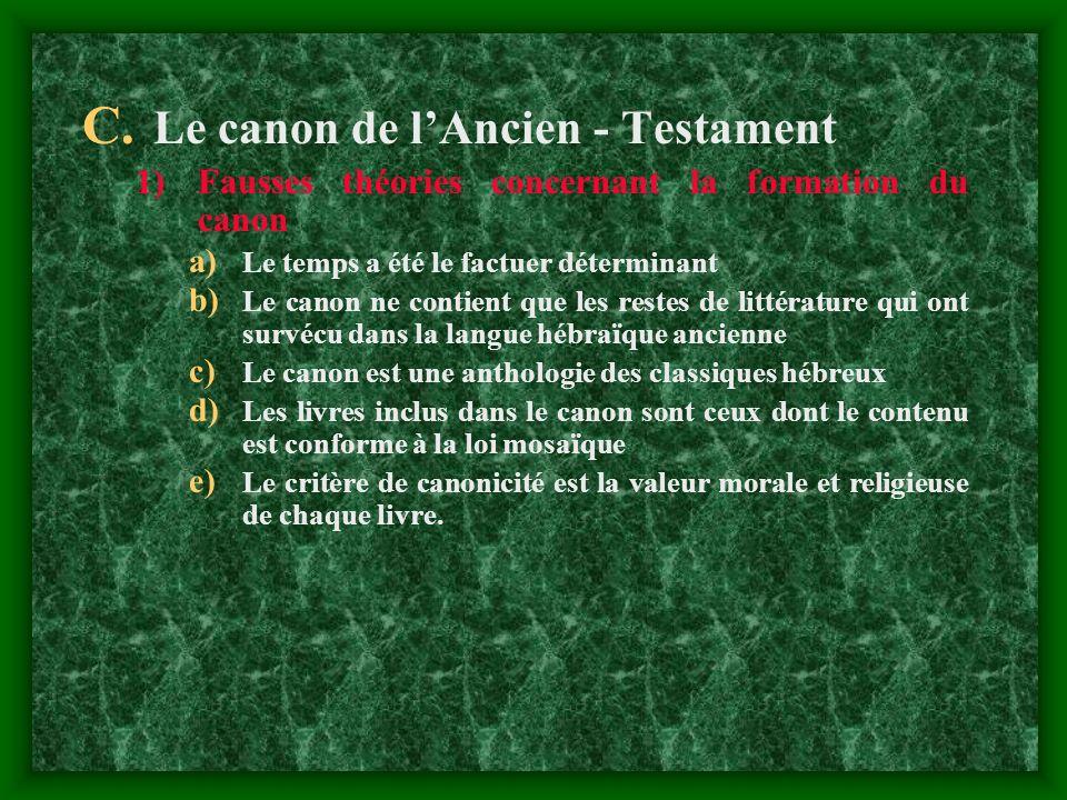 Le canon de l'Ancien - Testament
