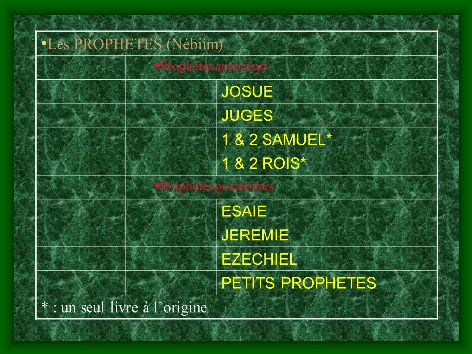 Les PROPHETES (Nébiim)